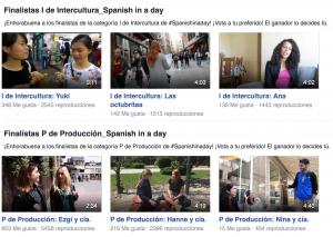 Vídeos finalistas de Spanish in a day